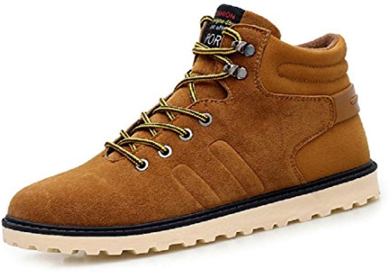 Herren Retro Warm halten Flache Schuhe Dicker Boden Martin Stiefel Rutschfest Schuhe erhöhen Lässige Schuhe EUR
