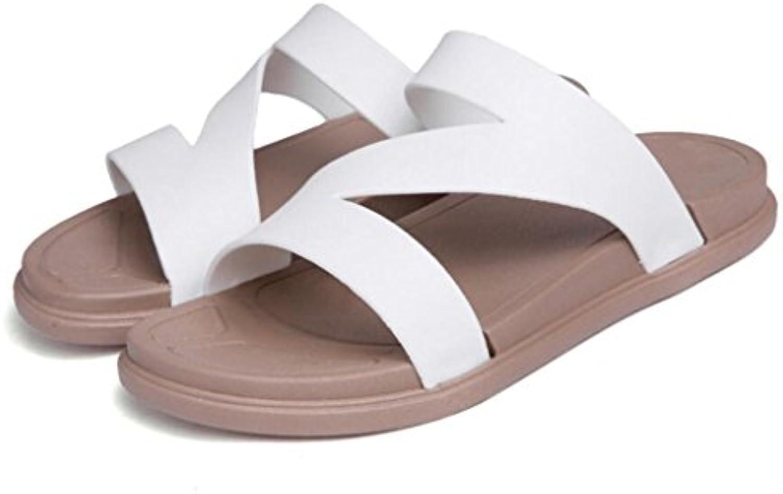 GAOLIXIA Sandalias de pareja Zapatillas planas de verano Sandalias antideslizantes Confort Zapatos casuales al