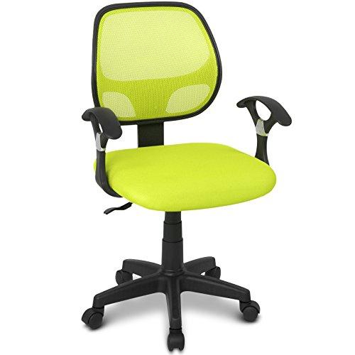 Infantastic Kinderdrehstuhl mit Netzrückenlehne Kinderschreibtischstuhl in modernem Design in 6 unterschiedlichen Farben erhältlich (Grün)