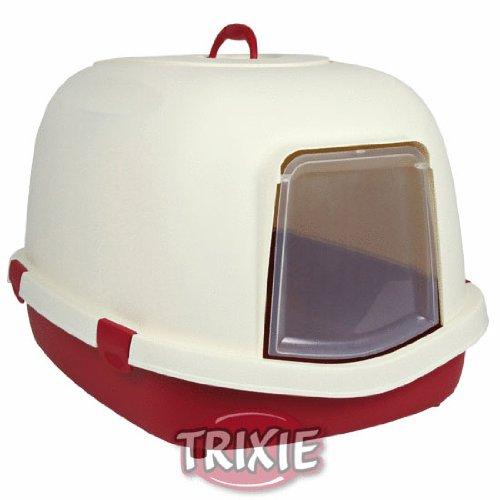 Trixie lettiera primo con cappuccio/flap/manico, X-Large, 71x 56x 47cm, bordeaux/crema