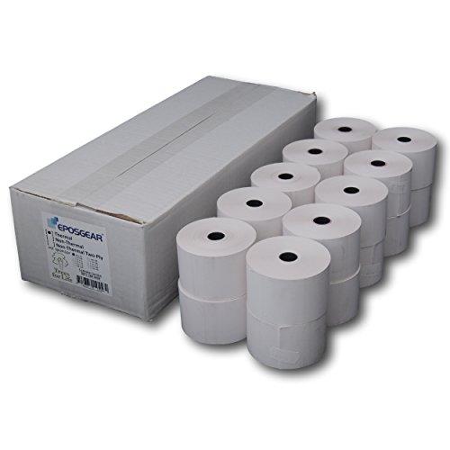EPOSGEAR 20 Rollen 44mm x 70mm 44x70 Bonrollen Thermopapier Papierrollen Kassenrollen Thermorollen für Thermo Drucker Registrierkasse Kassensysteme