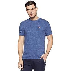 Levi's Men's Solid Regular Fit T-Shirt (16960-0233_Blue_M)