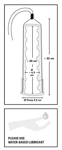 ORION Penispumpe - Vakuumpumpe für Männer mit handlichem Scherengriff für extra starkes Potenz-Vakuum, Stimulation und Training gleichzeitig, mit reizvollem Noppen-Sleeve - 6