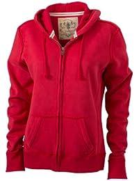 James & Nicholson Damen Sweatshirt Kapuzenjacke Ladies' Vintage Hooded Sweatshirt