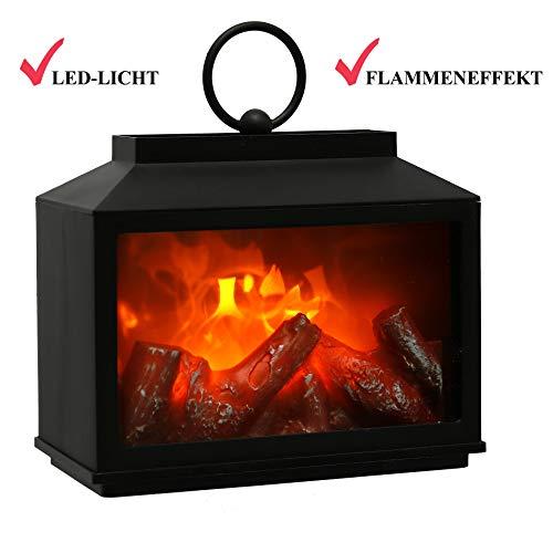 Farol LED decorativo que imita una chimenea con efecto de llama realista,...