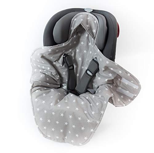 Sango Trade Babydecke für Kindersitz im Auto Babytrage Kinderwagen perfekt während einer Reise 100{d846e10e8ad9f9692708c37da0189ac550041bb9c5e866691ace47d266aff4ea} Baumwolle Antiallergische Füllung Weich 100 cm x 120 cm (Grauer Stern)