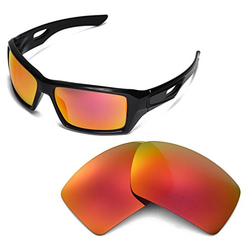 8c6b31979f4 Walleva Replacement Lenses for Oakley Eyepatch 2 Sunglasses - Multiple  Options (Fire Red) - Buy Online in Oman.