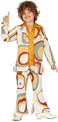 Fancy Me Jungen 1960er 1970er Jahre Discoanzug Hippie Woodstock Soul Zug Party Karneval Kostüm Outfit 5-12 Jahre