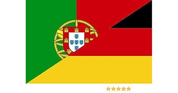 U24 Aufkleber Portugal Deutschland Flagge Fahne 12 X 8 Cm Autoaufkleber Sticker Auto