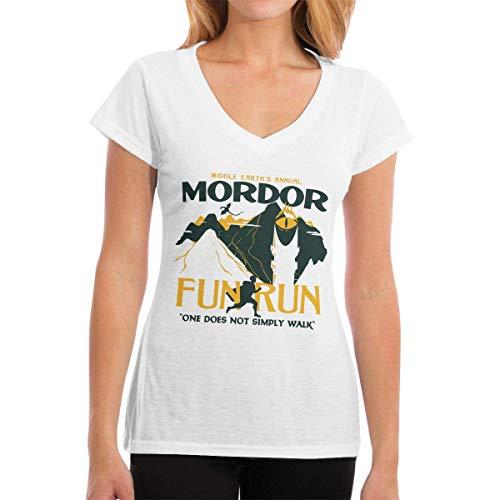 T-Shirts Mordor Fun Run Women's Casual Damenmode Kurzarm V-Ausschnitt T-Shirt - Ecko Jungen Shorts