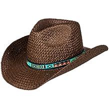 Roxy Cowgirl - Sombrero Cowboy de Paja para Mujer ERJHA03382 ac5f6ec9b51