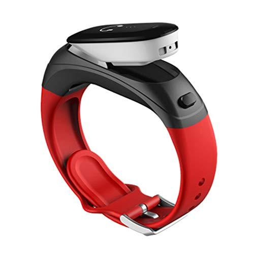 YWY Smart Watch V08 Business Intelligence Armband Wireless Bluetooth Headset Zwei-In-Eins Kann Herzfrequenz Bluthochdruck Wasserfeste Sport-Uhr Sprechen,Red