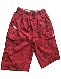 Short Neuf Abercrombie & Fitch pour Homme - Coupe large 3/4 - Original Brand - Rouge/Rose - Style ARBO 96 - Taille Americaine M (82 cm/ 32 inches)