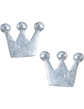 Janusch Ohrstecker Krone 925 Sterling Silber gebürstet