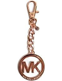 Michael Kors – Llavero, diseño de logotipo y llavero en oro rosa