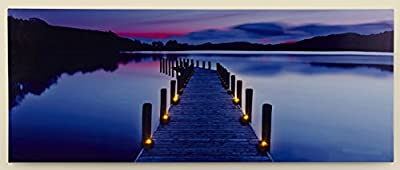 Premier Decorations BL151242 40 x 100 cm LED Lit Canvas Twilight Scene