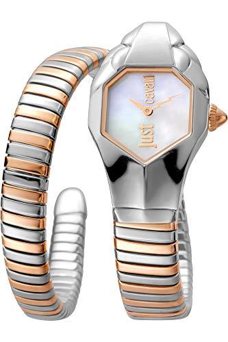 Just Cavalli Glam Chic Damen-Armbanduhr Rosarot Quarz JC1L001M0045