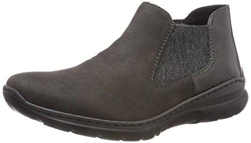 Rieker Damen L32H0 Chelsea Boots, Grau Fumo/Anthrazit 46, 39 EU