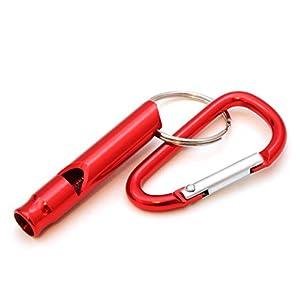 compacte pour dressage de chien/Sifflet d'entraînement avec mousqueton, sifflet de survie pour extérieur/Survival, Couleur?: Rouge-Ganzoo comme porte-clés