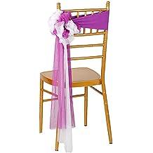 iEventStar 10 piezas Spandex elástico listo para usar silla lazo lazos para playa decoración para boda