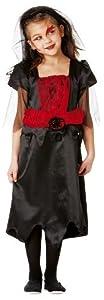 Cesar B875-004 - Disfraz de novia, rojo y negro