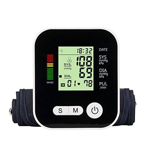 WAOBE Tipo de brazo Automático de carga USB Monitor de presión arterial Inteligente Voz automática...