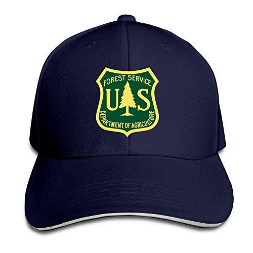 Bikofhd US Forest Service Flag einstellbar Baseballmützen Vintage Sandwich Hut Unisex37 Bmw-sandwich-cap