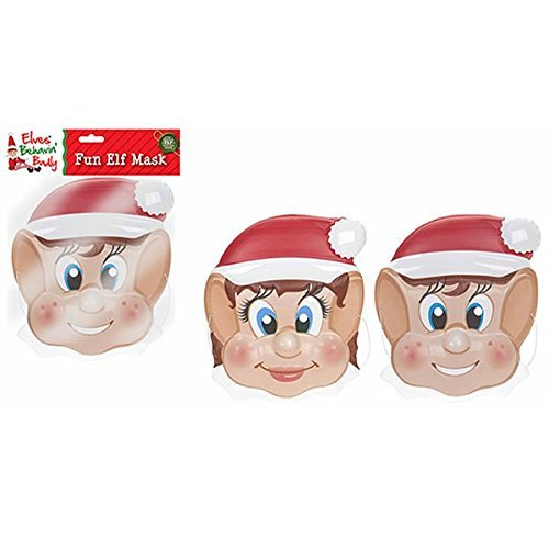 22cm Elf Design Weihnachtsmaske - Boy Elf - Weihnachten Fancy Dress - Weihnachten Partys - Elfen Behaving (Kostüm Balloon Boy)