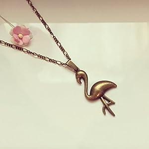 Lange Kette Flamingo Bronze, vintage / ethno / hippie / must have / statement / florabella schmuck