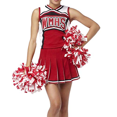 Kostüm Cheerleader Glee - GGTBOUTIQUE Damen Glee Cheerleader Schulmädchen -Abendkleid -Uniform-Partei-Kostüm-Ausstattung (Medium)