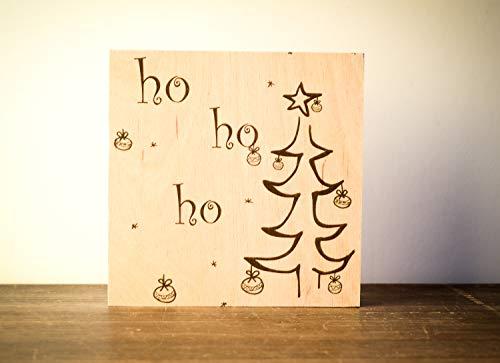 Holzschild Weihnachtsdeko Weihnachten modern minimalistisch Merry Christmas Geschenk Wichteln Weihnachtsdekoration Shabby-Stil gifts gift for her handmade