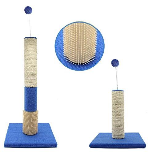BPS Rascador Juguete para Mascotas Gatos con Bola Materiales Rugoso Tamaño 60x30x30 cm BPS-10701