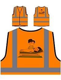 Señora Del Salón De Belleza Chaqueta de seguridad naranja personalizado de alta visibilidad q617vo