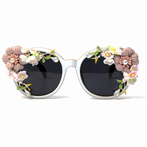 YLNJYJ Sonnenbrillen Cat Eye Sonnenbrille Frauen Vintage Brille Süße Blume Sommer Sonnenbrille Brillen Oculos De Sol