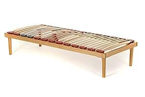 Rete Singola modello Dynamic misura 80x190 in legno di faggio con doghe ammortizzate e basculanti e regolatori di rigidità zona lombare - Materassimemory.eu