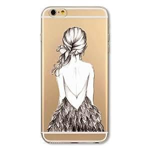eDealz Cute Transparent Soft Case Cover for Apple iPhone 6 6s 4.7''
