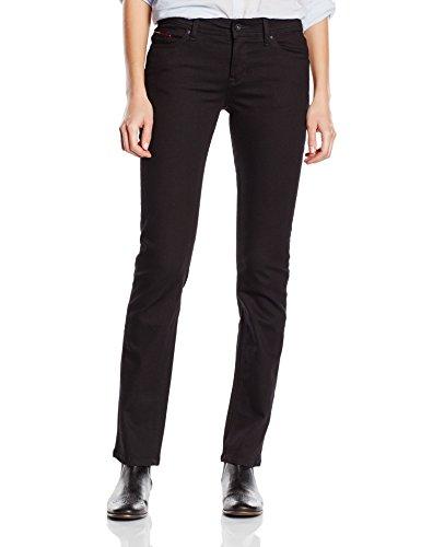 Hilfiger Denim Damen Straight Leg Jeanshose Mid rise Sandy DNBST, Gr. W29/L30, Schwarz (DANA BLACK STRETCH 945) (Mid-rise Leg Straight)