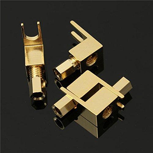 ILS - 4 Stücke 20-8AMG Gold Plated Spade Banana Fork Plug für Mcintosh Fisher Eico Adapter Fisher Audio