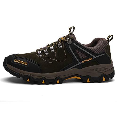 XIGUAFR Chaussure d'escalade en Plein Air pour Homme d'automne Hiver Souple Chaussure de Randonnée Respirant Etanche Antidérapant