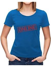 Kris Talas Online Stamp Logo Sign Women t-Shirt Black