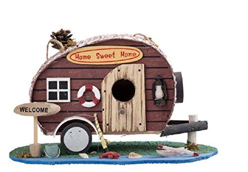 Vogelhaus Wohnwagen Home Sweet Home Camper Nistplatz Futterhaus 28cm Brutkasten Vogel Haus Holz