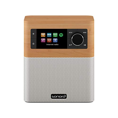 sonoro Stream Küchenradio (FM/DAB/DAB+/WLAN, AUX-in, Bluetooth, Spotify Connect) Ahorn/Weiß -...