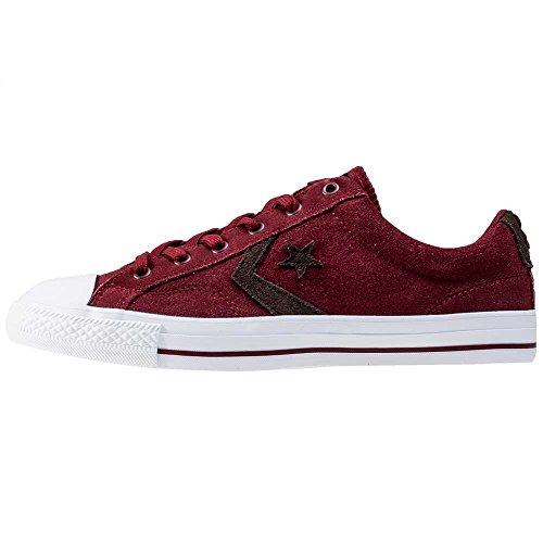 Uomo scarpa sportiva, colore Borgogna , marca CONVERSE, modello Uomo Scarpa Sportiva CONVERSE STAR PLAYER SUEDE OX Borgogna Borgogna