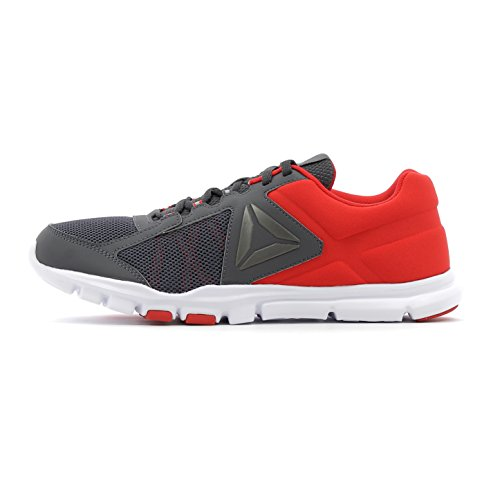 Reebok Yourflex Train 9.0 Mt, Chaussures de Fitness Homme Multicolore (Multicolore Primal Red/Ash Grey/White)