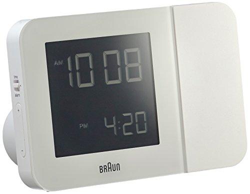 Braun Wecker, Kunststoff, Weiß, 13 x 9 x 4,9 cm