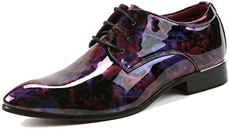 DHFUD Hombres Informal Moda Camuflaje Encaje Británico Juventud Personalidad Zapatos De Cuero -