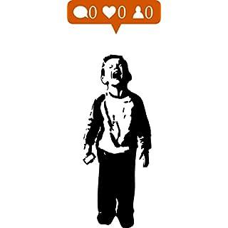 Banksy - Social media boy - Nobody likes me - Amazing Wall Sticker (Large: 80cm x 190cm / 32