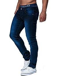 LEIF NELSON Herren Hose Jeans Stretch Basic Jeanshose Freizeithose Denim  Slim Fit Chinos Cargo Jogger Jeans a0e8af0f22