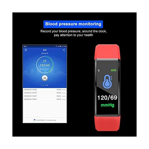 MENGZHEN 1 UNID Y3 Monitor de Actividad del Ritmo cardíaco Pantalla táctil Usable Podómetro Bluetooth Pulsera Inteligente con Monitor de sueño 8
