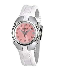 Sector - R3251195004 - 195 - Montre Femme - Quartz Analogique - Bracelet Tissu Blanc